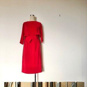 Tyfoon International Inc - Vintage Red Silk Dress